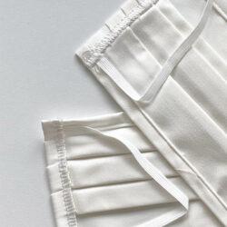 Mascherine bianche in tessuto