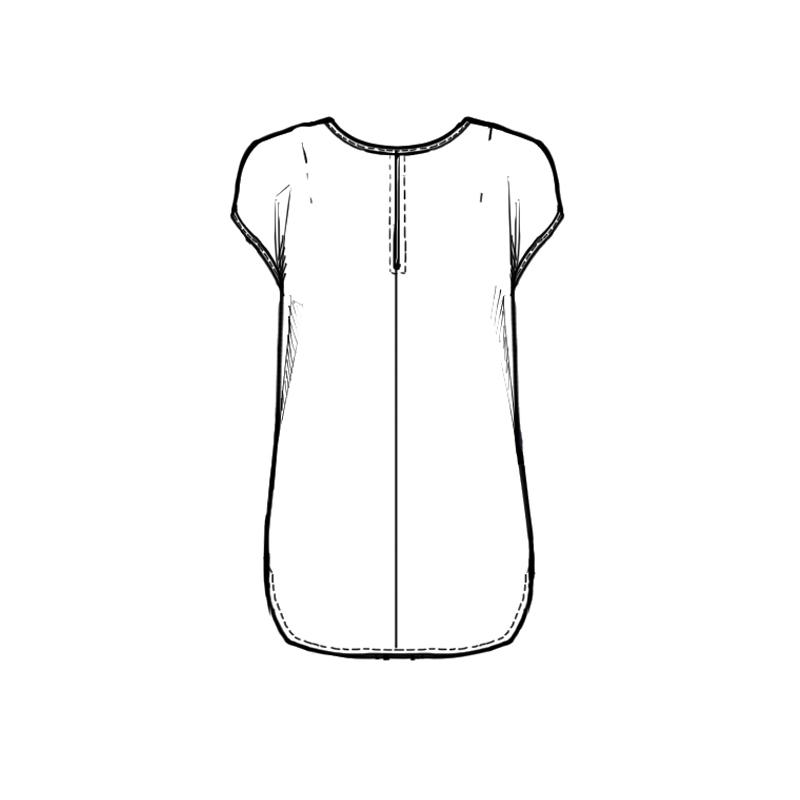 Cartamodello blusa mezza manica
