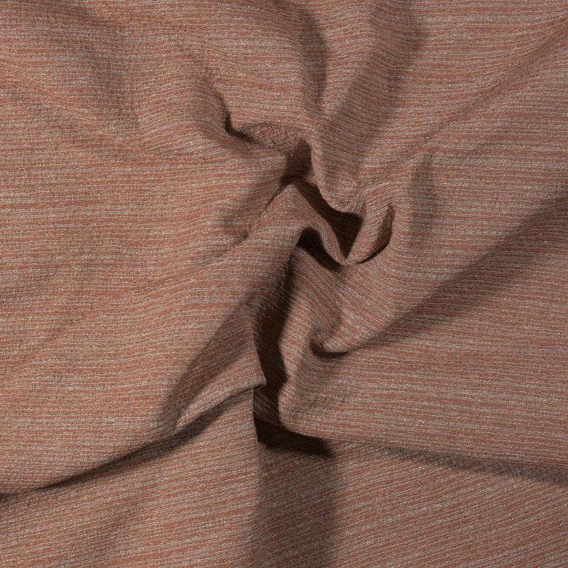Tessuto jacquard trama piccola color ruggine