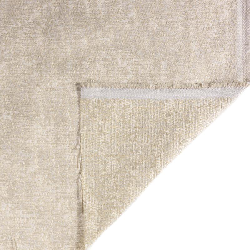 Tessuto jacquard trama media color crema