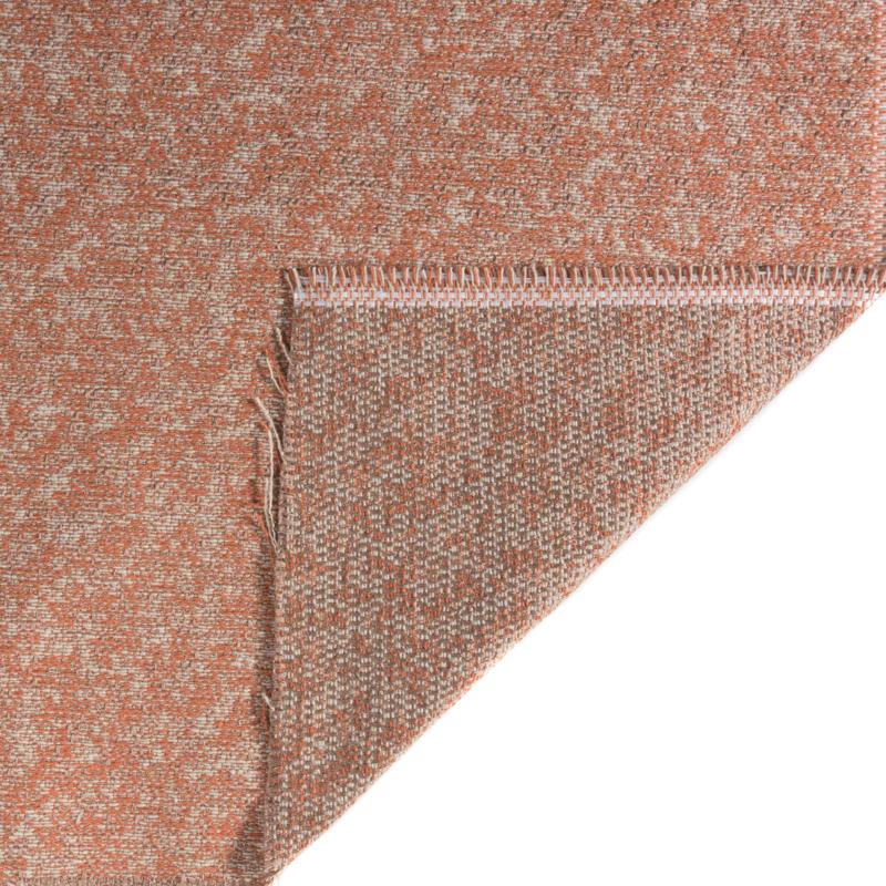 Tessuto jacquard trama media color ruggine chiaro