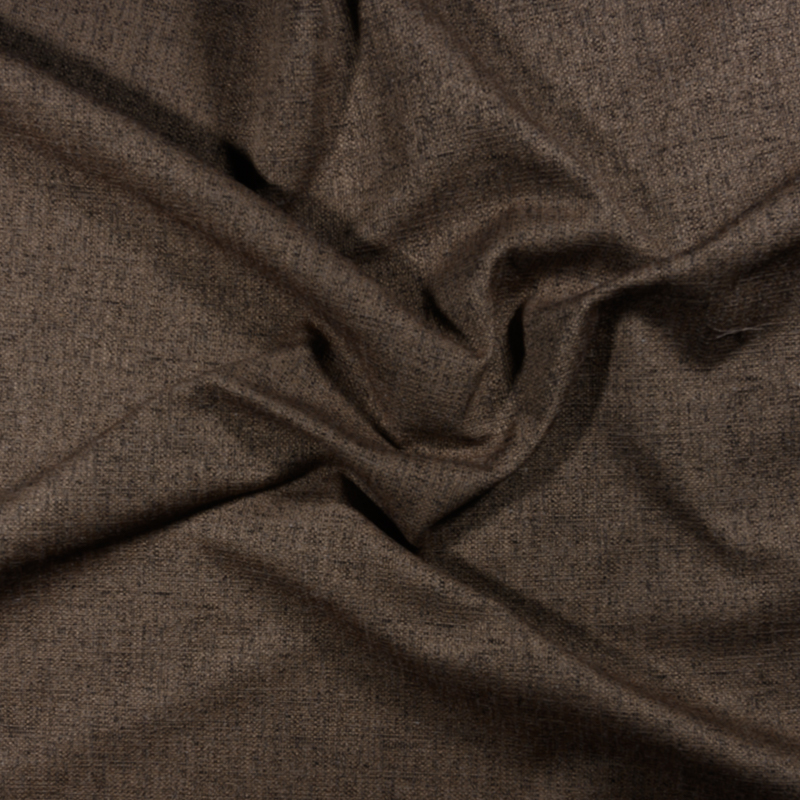 Tessuto jacquard per arredo color marrone melange