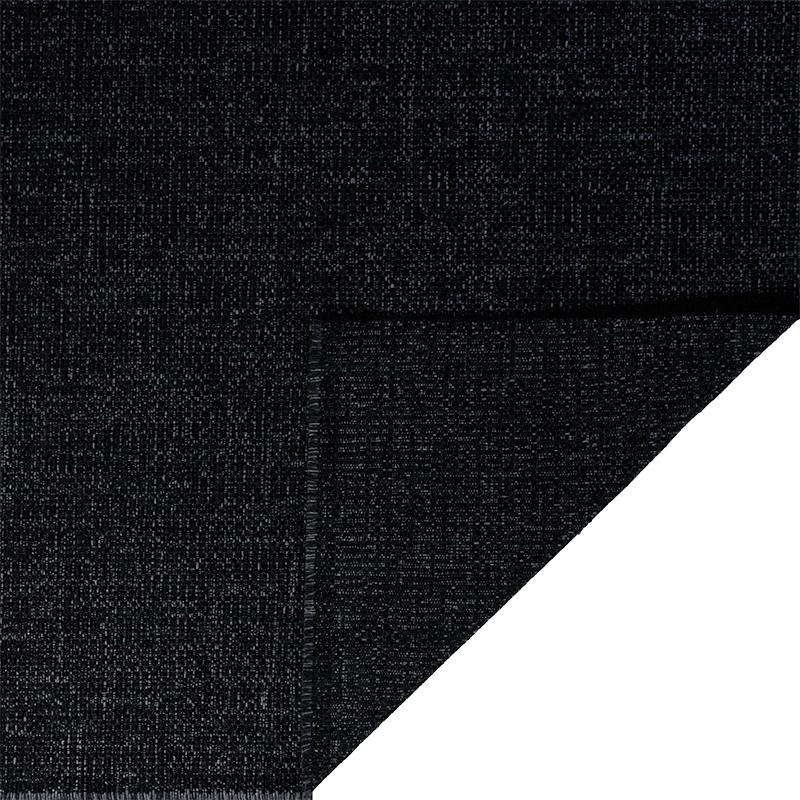 Tessuto jacquard per arredo color nero melange