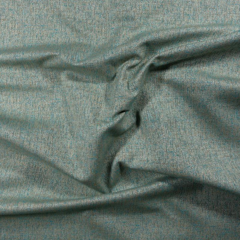 Tessuto jacquard per arredo color corda e azzurro