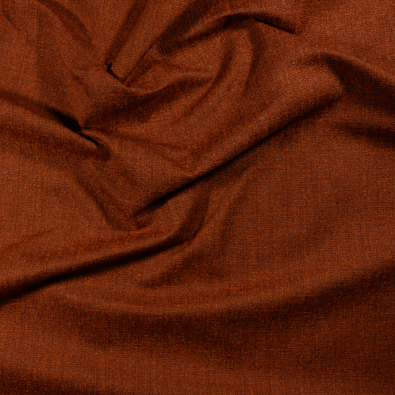 Tessuto jacquard per arredo color ruggine