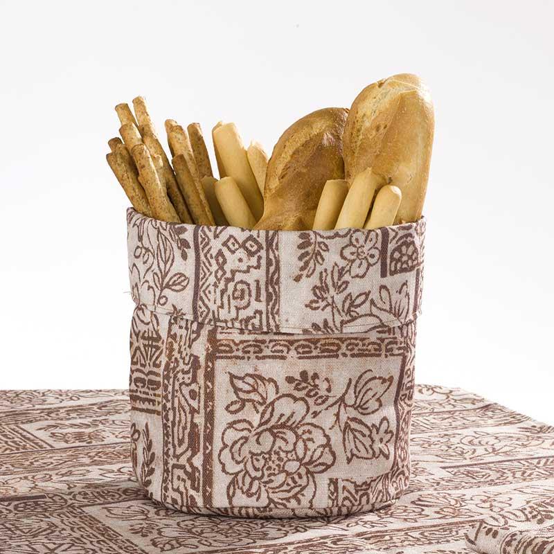 Cestino per il pane con disegno batik