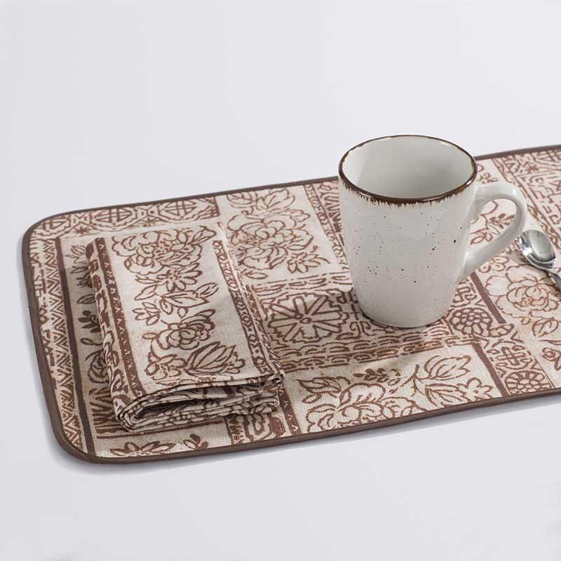 Tovaglietta all'americana con disegno batik