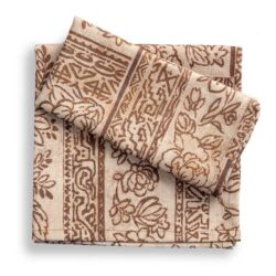 Set 2 tovaglioli con disegno batik